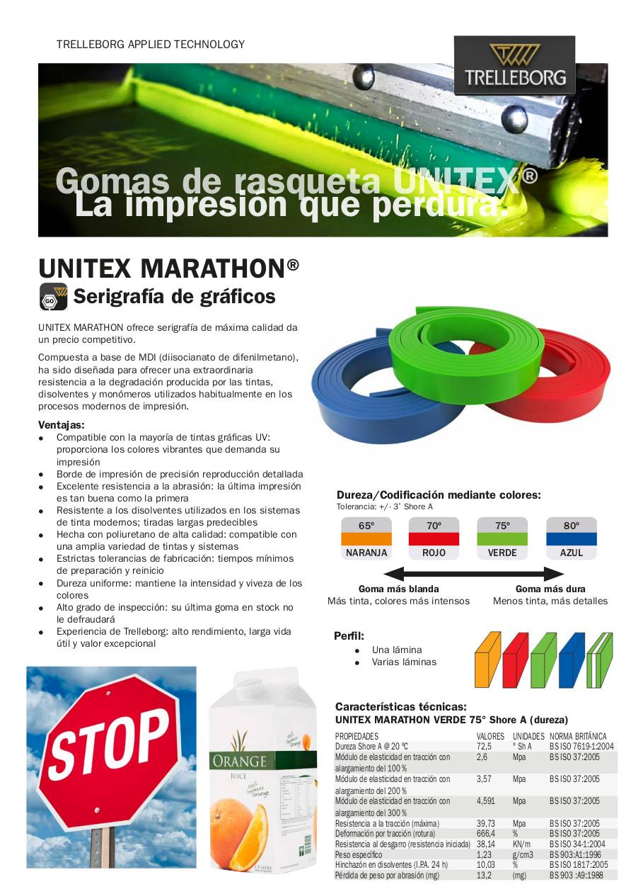 Gomas de rasqueta Unitex Marathon - SERVILAN